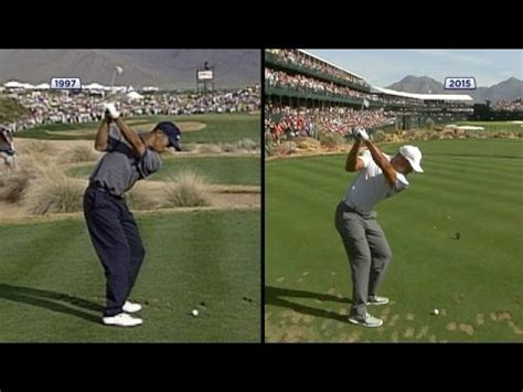 tiger woods old swing tiger woods swing comparison 1997 vs 2015 youtube