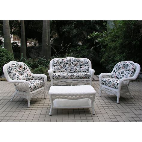 Chicago Wicker 174 Seaview 4 Pc Wicker Patio Furniture Chicago Patio Furniture