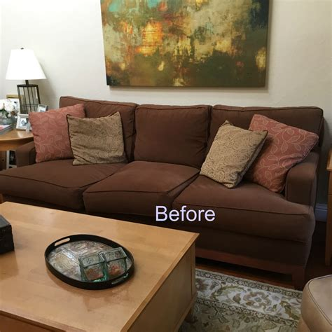 throw pillows for brown sofa classic casual home brown couch blues mini makeover
