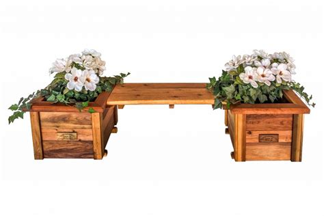 planter boxes with bench redwood planters raised garden beds redwood northwest