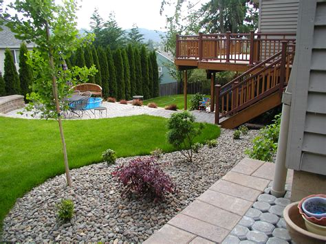 landscaped backyards simple backyard ideas for landscaping room decorating