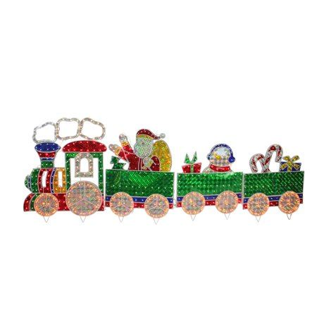 christmas outdoor halogrphic train decoration 4 holographic lighted motion set yard decoration 8 5 walmart