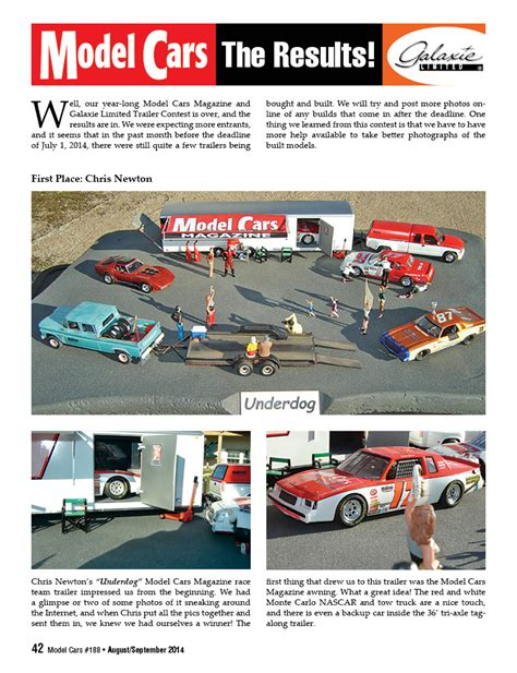 Magazine Contests And Sweepstakes - contests archives model cars magazine