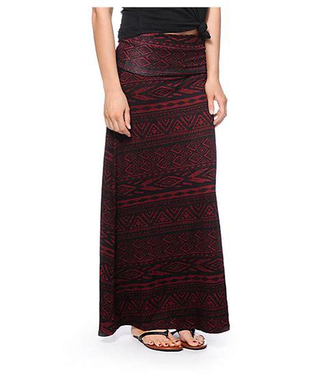 Maxi Syari Cammelia Marron lunachix black tribal print maxi skirt zumiez