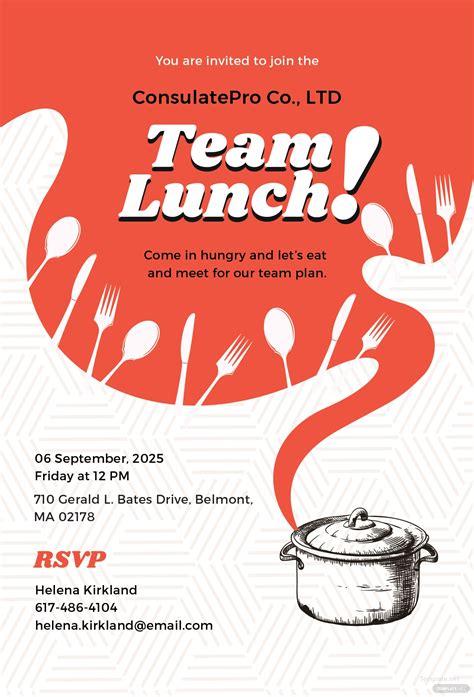 Free Team Lunch Invitation Template In Adobe Illustrator Template Net And Invite Template