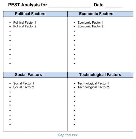 Swot Analysis Template Word Beepmunk Pest Plan Template