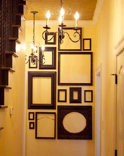 home wall decorating ideas empty picture frames stylish wall decoration ideas
