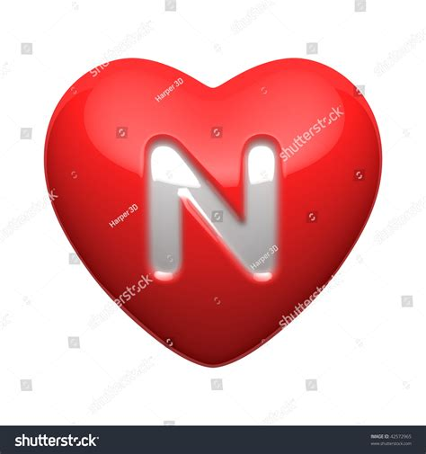 A N letter n alphabet hearts there clipping stock illustration