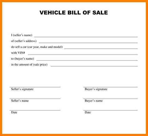 writing a bill template 8 how to write a bill of sale for a car land scaping flyers
