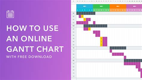 Mastering Your Production Calendar Free Gantt Chart Excel Template 12 Month Gantt Chart Template