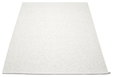 Modern White Rugs Pappelina Svea Metallic White White Rug Modern Outdoor Rugs By Viesso