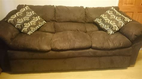 Brown Suede Sofa Set 23 Seater Brown Suede Sofa Set Plus Glass Coffee Table And