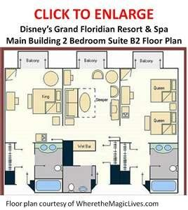 disneyland hotel 2 bedroom suite layout image detail for grand floridian two bedroom suite floor