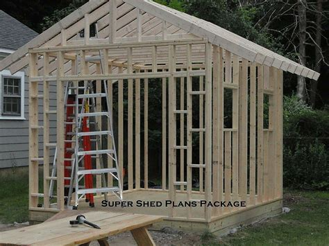 custom design shed plans  gable storage diy