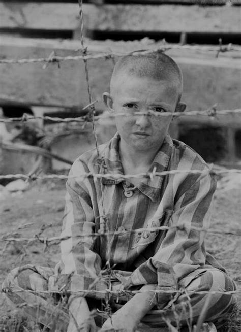 world war II, concentration camp, child, behind the fence