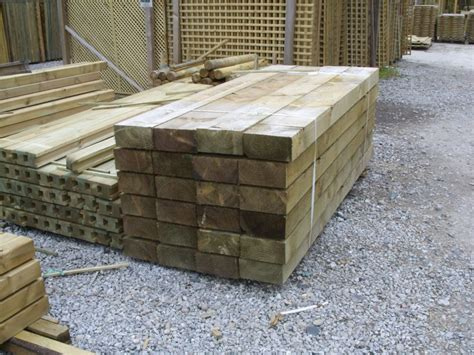 Softwood Sleepers by Treated Softwood Sleepers