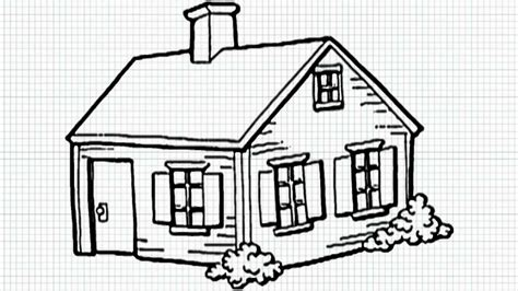 simple house drawing how to draw a house for kids youtube