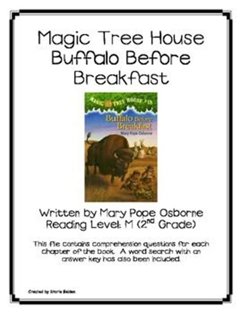 magic tree house 18 magic tree house 18 buffalo before breakfast book questions