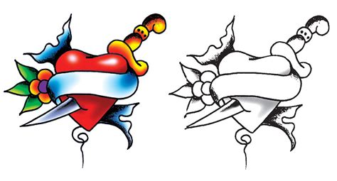 heart and dagger tattoo designs dagger design ideas pictures