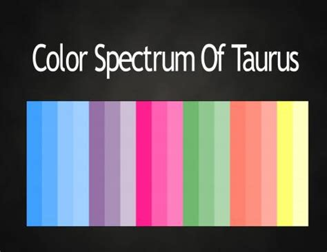 Taurus Colors | fashion by zodiac light force network