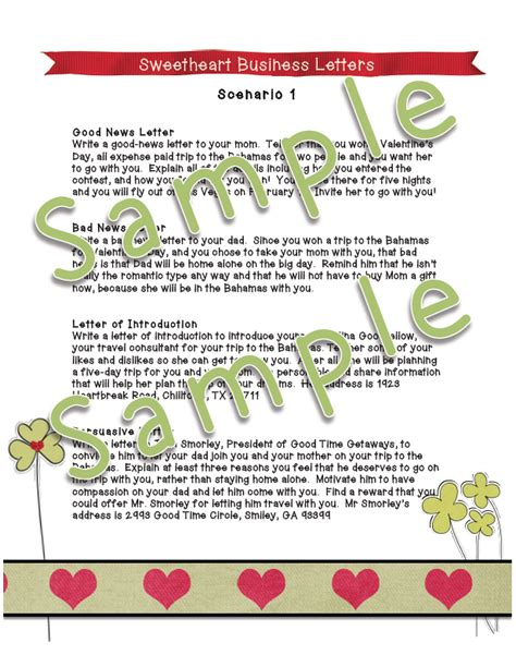 business letter writing scenarios dayley supplements sweetheart business letters scenario