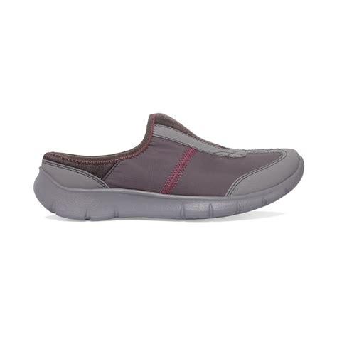 slip on sneakers womens clarks womens hedge neenah slip on sneakers in gray lyst