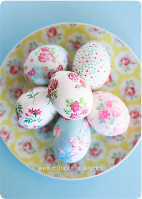 Decoupage Eggs - how to pretty decoupage easter eggs make