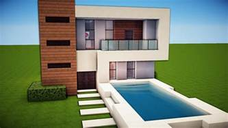 minecraft simple easy modern house tutorial how to