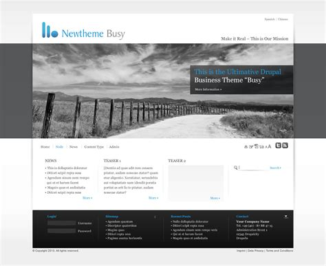 Drupal Theme Header | add new theme to core busy 695292 drupal org