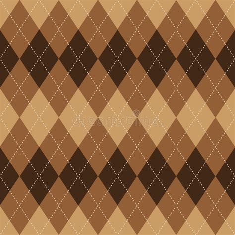 rhombus pattern texture argyle pattern brown rhombus seamless texture stock vector