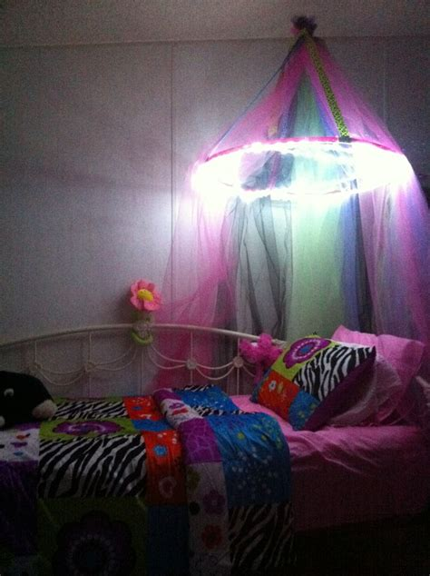 Diy Canopy Bed With Lights Diy Bed Canopy With Lights Canopies Diy Bed Bed Canopies And Bed Canopy