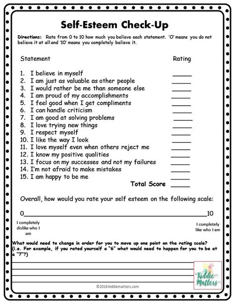 Free Self Esteem Worksheets For Adults by 25 Best Ideas About Self Esteem Worksheets On
