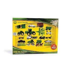 toy farm sets: john deere value set farm toy playset