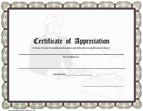 certificate for appreciation template certificate of appreciation templates pdf word get