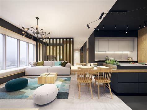 scheune modernisieren appartement design avec des touches de couleurs turquoise