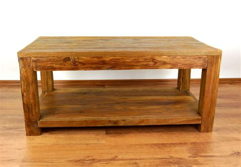 Handmade Wooden Coffee Tables - reclaimed teak wood coffee table rustic design handmade