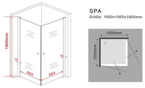schiebetüren aus glas für innen duschkabine spa 100 x 100 x 190 cm ohne duschtasse