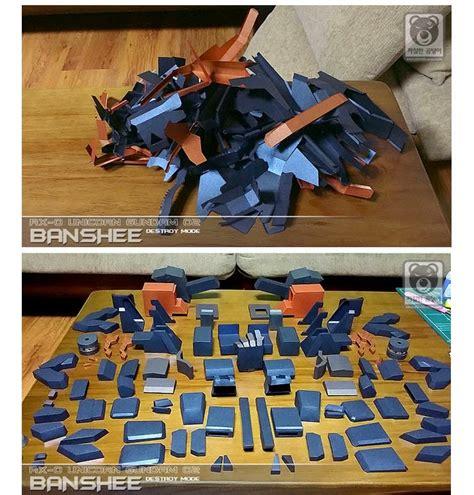 Amazing Papercraft - amazing papercraft 1 24 unicorn gundam 02 banshee