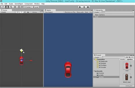 tutorial for unity unity 2d racing game tutorial unity3d tutorials