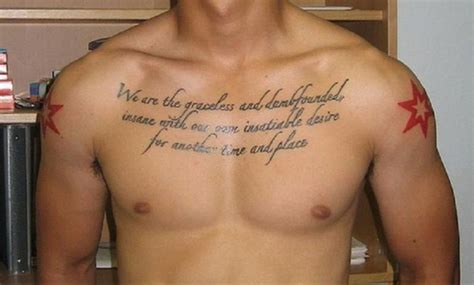 chest tattoo quotes for men the gallery for gt fashion quote tattoos