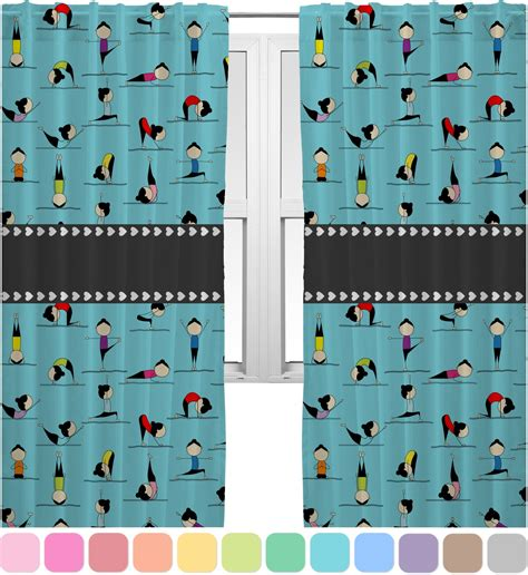 yoga curtains yoga poses curtains 20 quot x84 quot panels unlined 2 panels