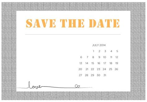 Save The Date Templates Free Printables