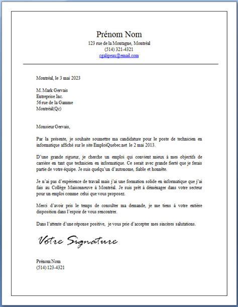 Lettre Demande De Travail Word modele de lettre gratuite une lettre de demande jaoloron