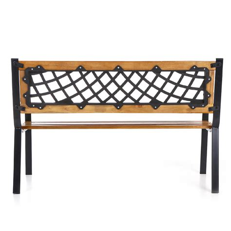 cast iron patio bench wood ikayaa 50 quot cast iron wood outdoor garden patio bench