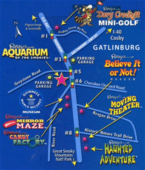 gatlinburg map here is a map of all of the ripley s attractions in gatlinburg and pigeon forge tennessee