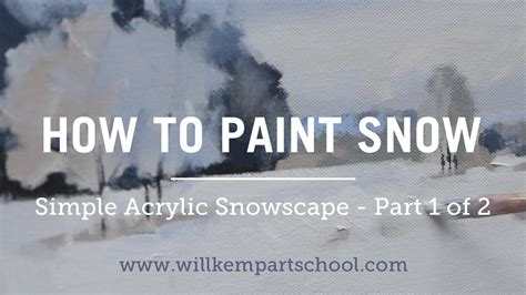 how to paint how to paint an impressionistic snowscene in acrylics