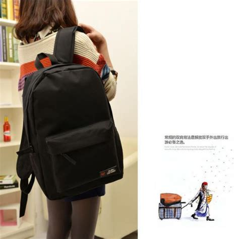 Tas Polos Kanvas Mini 1 tas backpack canvas model polos black jakartanotebook