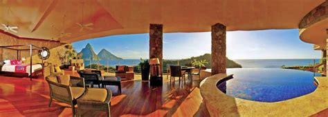 hotel with pool outside every room jade mountain st lucia infinity pool every room 27 shockblast