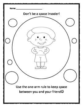 Pdf Cook Personal Space C Activities personal space c boy space invader coloring sheet