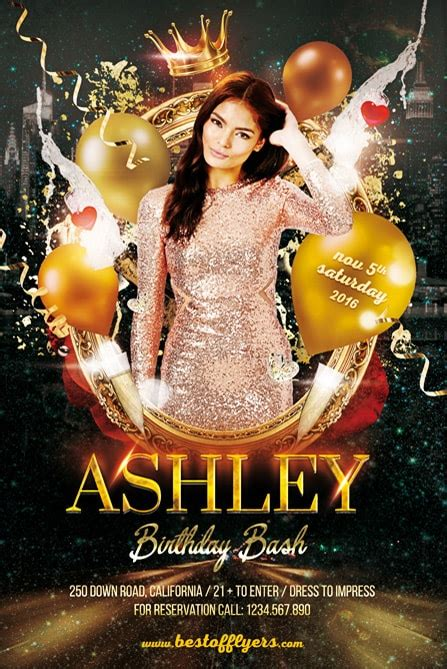 Birthday Bash Party Free Flyer Template Best Of Flyers Bash Flyer Template